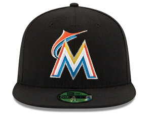 NEW ERA MIAMI MARLINS 【ON-FIELD PERFORMANCE HOME/BLK】 ニューエラ マイアミ マーリンズ オンフィールド 59FIFTY FITTED CAP