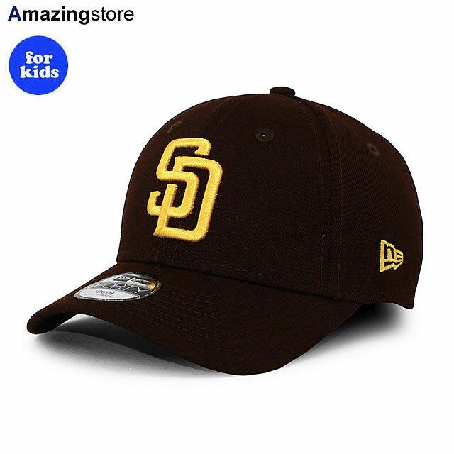 【子供用 あす楽】ニューエラ 9FORTY サンディエゴ パドレス 【YOUTH MLB THE LEAGUE GAME ADJUSTABLE CAP/BROWN】 NEW ERA SAN DIEGO PADRES ブラウン [/BRN 21_2_4NE]画像