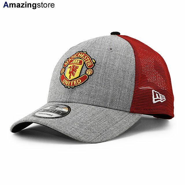 メンズ帽子, キャップ  9FORTY FC PREMIER LEAGUE HEATHERED TURN TRUCKER MESH CAPH GREY-RED NEW ERA MANCHESTER UNITED FC 2142NE