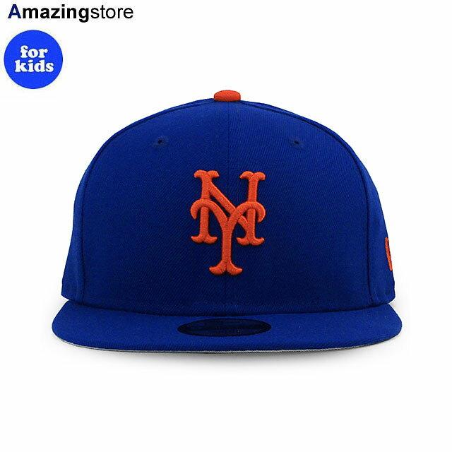 帽子, キャップ  9FIFTY YOUTH MLB BASIC SNAPBACK CAPRYL BLUE NEW ERA NEW YORK METS 2194NE