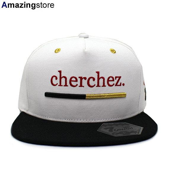 メンズ帽子, キャップ 47 CHERCHEZ LA GHOST STRAPBACKWHT-BLK 7UNION 1810118102
