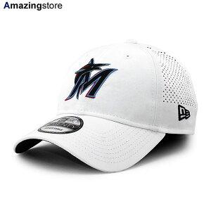 【男女兼用 あす楽対応】ニューエラ 9TWENTY ストラップバック キャップ マイアミ マーリンズ 【MLB PERF PIVOT STRAPBACK CAP/WHITE】 NEW ERA MIAMI MARLINS ホワイト [/WHT 20_7_4NE]