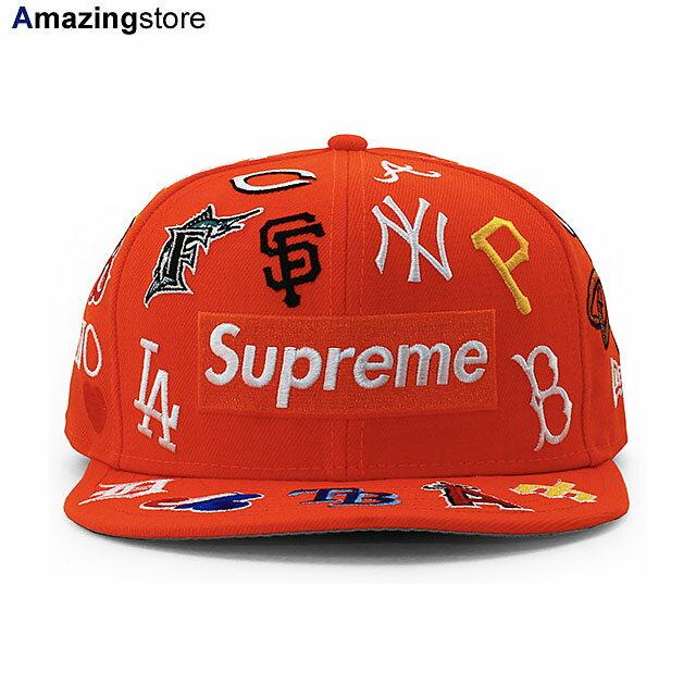 メンズ帽子, キャップ SUPREME 59FIFTY MLB COLLABO BOX LOGO FITTED CAPORANGE NEW ERA ORG 2061SUP