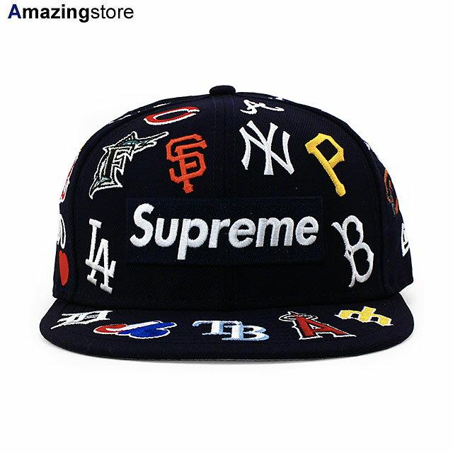 メンズ帽子, キャップ SUPREME 59FIFTY MLB COLLABO BOX LOGO FITTED CAPNAVY NEW ERA 2010RE