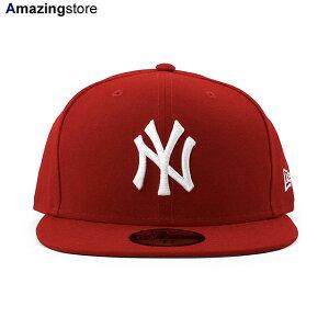 【あす楽対応】ニューエラ 59FIFTY ニューヨーク ヤンキース 【MLB TEAM-BASIC FITTED CAP/RED-WHITE】 NEW ERA NEW YORK YANKEES レッド [/BIG_SIZE 20_8_3NE 20_8_4]