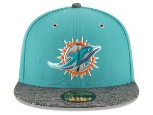 NEW ERA MIAMI DOLPHINS 【2016 NFL DRAFT/AQUA-DARK HEATHER GREY】ニューエラ マイアミ ドルフィンズ ドラフト 59FIFTY フィッテッド キャップ FITTED CAP AUTHENTIC [帽子 ヘッドギア メンズ 16_4_2DRF16_4_3]