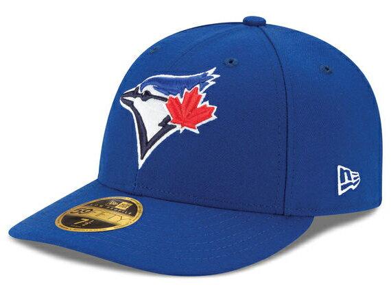 メンズ帽子, キャップ NEW ERA BLUE JAYS LOW CROWN ON-FIELD PERFORMANCE GAMERYL BLUE 59FIFTY FITTED CAP LOW PROFILE CAP MLB AUTHENTIC 1772LOW