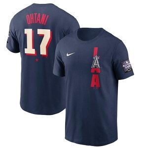 【代引不可】大谷翔平モデル NIKE Tシャツ ロサンゼルス エンゼルス 【2021 MLB ALL-STAR GAME PLAYER NAME&NUMBER T-SHIRT/NAVY】 ナイキ LOS ANGELES ANGELS ネイビー [21_7RE_0721]