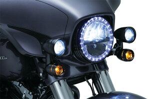 【5059】ドライビングライトツーリングモデル用ブラック2014年以降エレクトラグライド、ストリートグライドハーレーパーツ