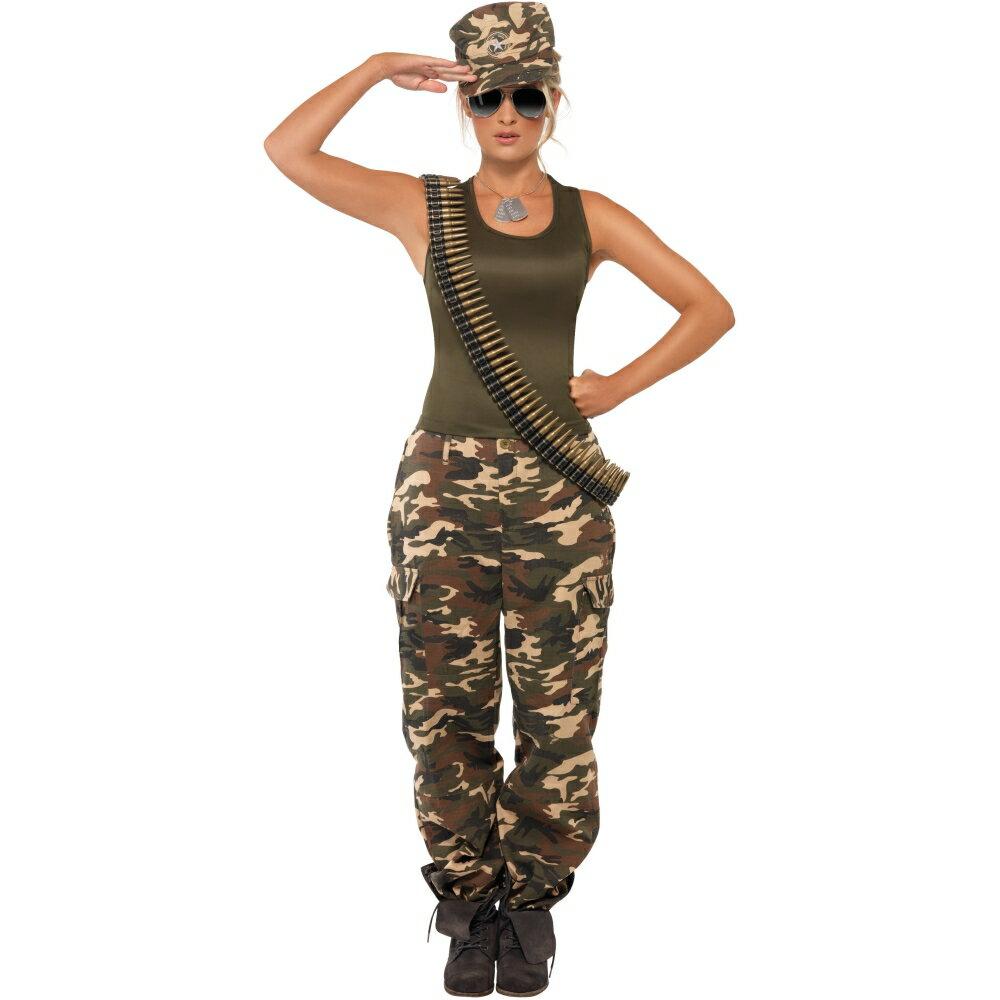 コスプレ・変装・仮装, コスチューム一式  Khaki Camo Lady