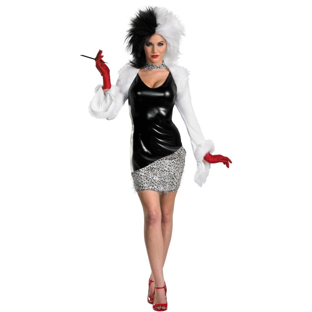 101匹わんちゃん クルエラ 衣装、コスチューム 大人女性用 ディズニー Sassy コスプレ画像