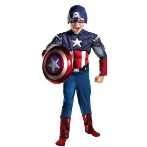キャプテン・アメリカ 衣装、コスチューム 子供男性用 マッスル アベンジャーズ