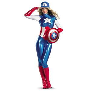 キャプテンアメリカ 衣装、コスチューム 大人女性用 コスプレ |68-5