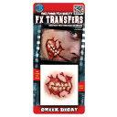 裂けた口  リアルなメイクシール CHEEK DECAY ホラー 3D FX Transfers H22