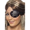眼帯 黒 海賊風 ドクロ ディアマンテ 大人女性用 Pirates Eyepatch