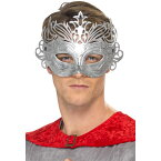 ベネチアンマスク シルバー コロンビーナ風 大人男性用 Columbine Silver Mask