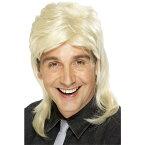 ウィッグ ブロンド 1980年代風 カツラ ロング マレット 大人男性用 Mullet Wig コスプレ