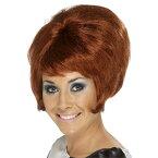 ウィッグ 赤褐色 1960年代風 ショート ビーバイブ 大人女性用 60's Beehive Wig c5