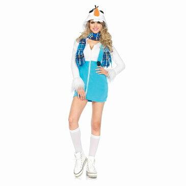 アナと雪の女王風 オラフ風 大人女性用コスチューム Cozy Snowman