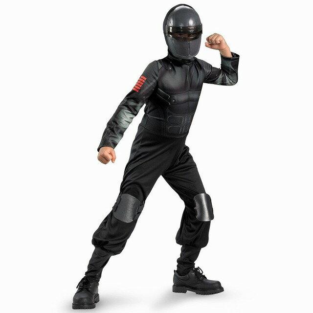 クラシック スネークアイ G.I. Joe 衣装、コスチューム 子供男性用 Snake Eyes コスプレ画像