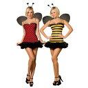 てんとう虫とミツバチ 大人女性用コスチューム コスプレ ハロ...