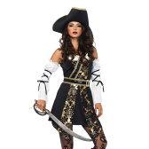 海賊 コスチューム 大人女性用 4 PC. Black Sea Buccaneer