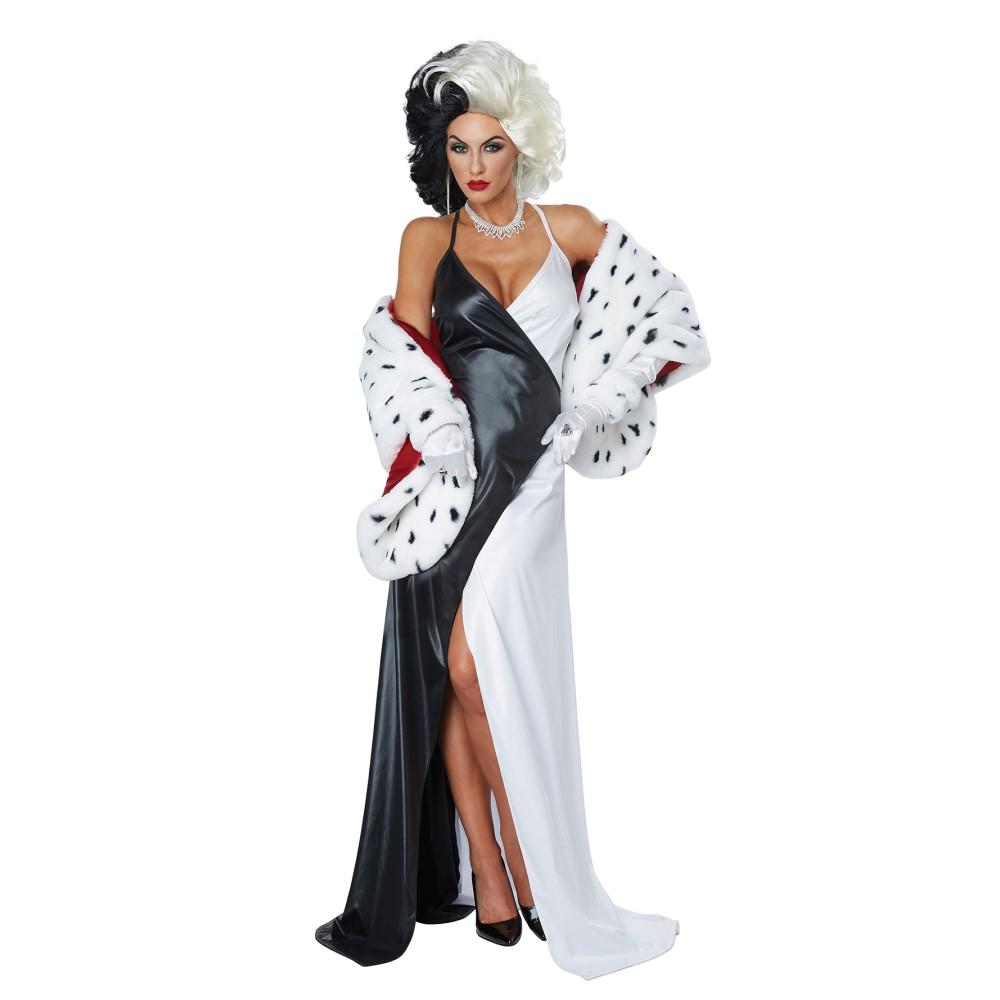 クルエラ風 衣装、コスチューム 大人女性用 101匹わんちゃん CRUEL DIVA/ADULT コスプレ画像