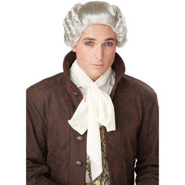 グレー ロング束ね髪 ウィッグ、かつら 中世ヨーロッパ貴族