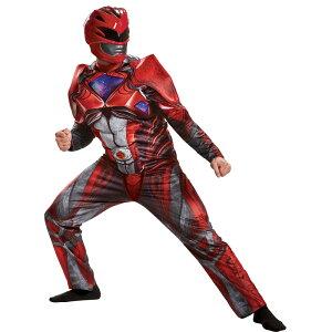 レッドレンジャーパワーレンジャー大人男性用衣装、コスチュームコスプレREDRANGER2017ADULT