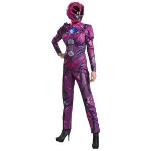 ピンクレンジャーパワーレンジャー大人女性用衣装、コスチュームコスプレPINKRANGR2017DLXADULT