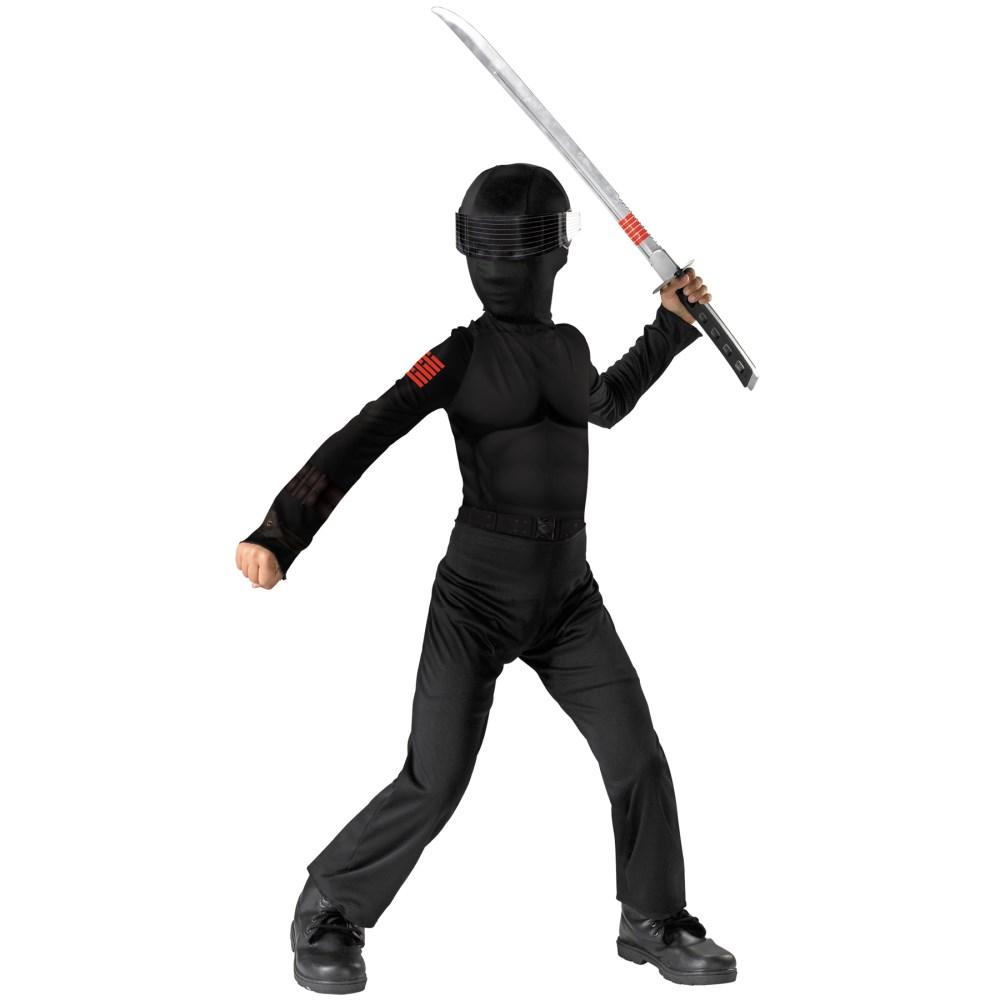 スネークアイズ G.I.ジョー 衣装、コスチューム 子供男性用 G.I. JOE SNAKE EYES コスプレ画像
