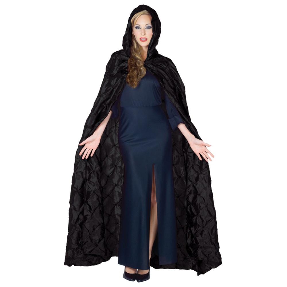 ロングケープ 衣装、コスチューム 大人女性用 CAPE TAFFETA PIN TUCK コスプレ画像