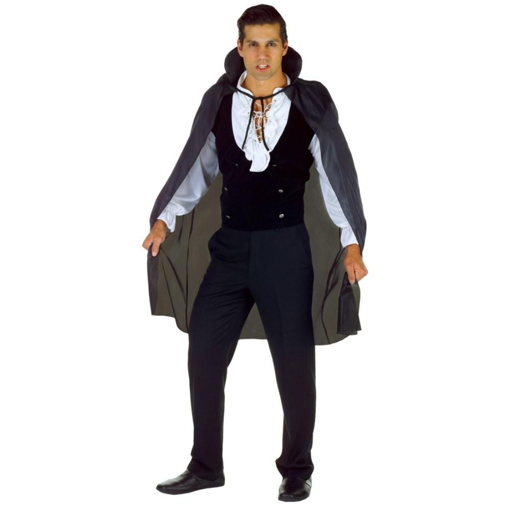 ヴァンパイア 衣装、コスチューム 大人男性用 CAPE TAFFETA 3/4 BLACK SIZ コスプレ画像