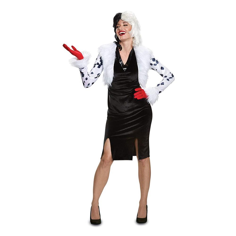 クルエラ 衣装、コスチューム 大人女性用 101匹わんちゃん Deluxe ディズニー ヴィランズ コスプレ画像