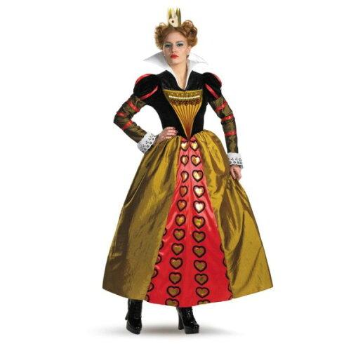 赤の女王 DLX ドレス 衣装、コスチューム 大人女性用 アリスインワンダーランド ディズニー|...