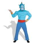 アラジンジーニーランプの魔人衣装、コスチューム(男性用)ディズニー