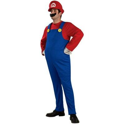 スーパーマリオブラザーズ マリオ Deluxe 衣装、コスチューム 男性用