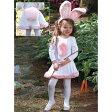 バニーガール 衣装、コスチューム 子供女性用 ドレス うさぎ ホワイト ピンク|72B-5、