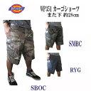 (ディッキーズ) Dickies ハーフパンツ カーゴショートパンツ(また下11インチ=約28cm)30-38インチ 短パン メンズファッション ズボン パンツ カモ 迷彩 ミリタリー 大きいサイズ ショーツ