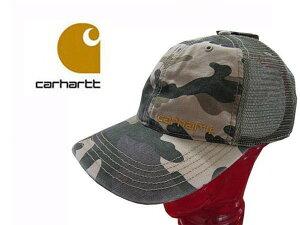 カーハート Carhartt メンズ キャップ 帽子 メッシュキャップ BRANDT Cap 10194 カモ柄 迷彩 ミリタリー ハット フリーサイズ