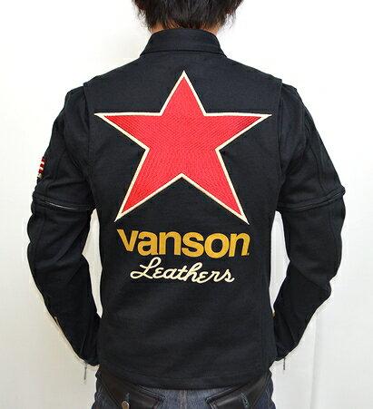 当店別注 VANSON バンソン 袖脱着式シングルライダース ジャケット ワンスター バンソン40周年モデ...