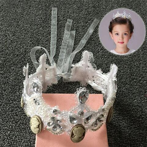 子供王冠 髪飾り ヘッドドレス 発表会 ヘアアクセサリー  ウエディングや姫様パーティや発表会、ダンス衣装★ファッションショー★ハンドメイド