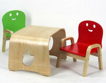 キコリのテーブルとチェア2脚セット(木製ミニチェア)