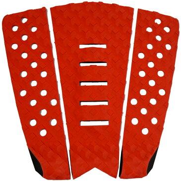 3P サーフボード デッキパッド Tail Pad ショートボード ロングボード Deck Pad パドルボード 3ピース グリップ テープ (赤 + 赤 + 赤)