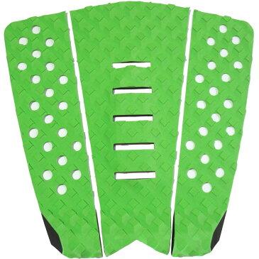 3P サーフボード デッキパッド Tail Pad ショートボード ロングボード Deck Pad パドルボード 3ピース グリップ テープ (グリーン + グリーン + グリーン)