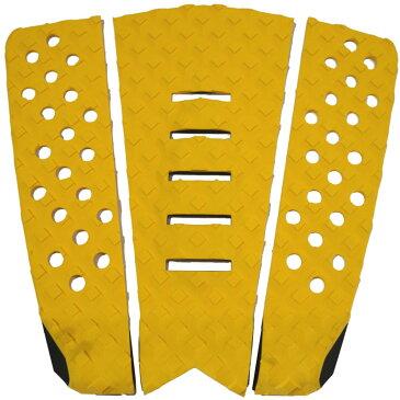 3P サーフボード デッキパッド Tail Pad ショートボード ロングボード Deck Pad パドルボード 3ピース グリップ テープ (黄色 + 黄色 + 黄色)