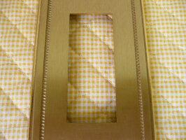【未使用品】イタリー製真鍮スイッチカバー3穴RDSイタリア製ITALYコンセントカバースイッチプレート金ゴールド