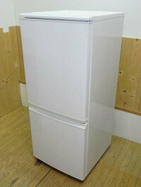 【中古】シャープノンフロン冷凍冷蔵庫SJ-D14A-W137LSHARP2ドア冷蔵庫冷凍庫ホワイト系幅48cmつけかえどっちもドア耐熱トップテーブル左右フリー