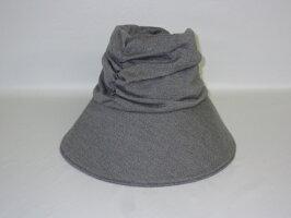 【中古】TABASAつば深ハットグレー系MADEINJAPANタバサ毛100%日本製婦人帽帽子ハットピーエックスレディースUV対策