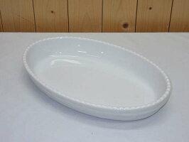 60【中古】大皿オーバル32cm楕円食器洋食器ビュッフェ業務用テーブルウェア製菓パーティーオードブル白